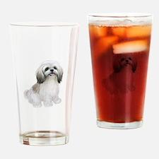 Shih Tzu-(W-Tan)-JTD Drinking Glass