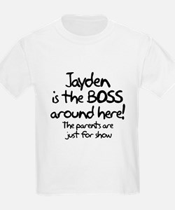 Jayden is the Boss T-Shirt