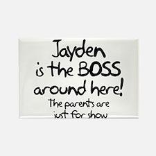 Jayden is the Boss Rectangle Magnet