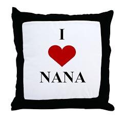I Love (heart) Nana Throw Pillow
