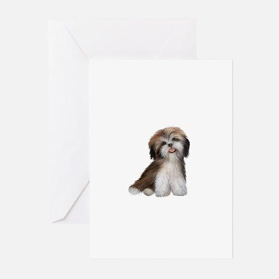 Shih Tzu (brn-crm)-JTD Greeting Cards (Pk of 10)