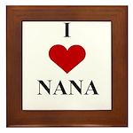 I Love (heart) Nana Framed Tile