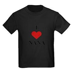 I Love (heart) Nana Kids Dark T-Shirt