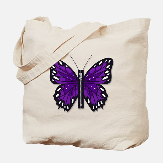 Chiari Awareness Zipper-Fly Tote Bag