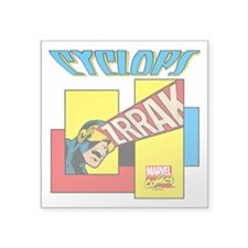 "Cyclops Zrrak Square Sticker 3"" x 3"""