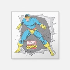"Cyclops X-Men Square Sticker 3"" x 3"""
