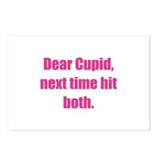 Dear Cupid, Next Time Hit Both Postcards (Package