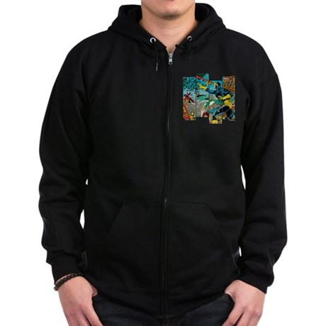 Cyclops Comic Panel Zip Hoodie (dark)
