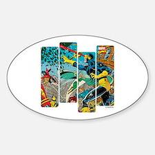Cyclops Comic Panel Sticker (Oval)