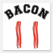 "Bacon Jersey Square Car Magnet 3"" x 3"""