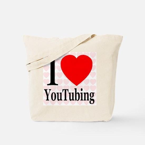 I Love YouTubing Tote Bag