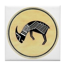 MIMBRES BATTERING RAM BOWL DESIGN Tile Coaster
