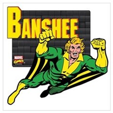 Banshee X-men Wall Art Poster
