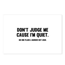 Don't Judge Me Cause I'm Quiet Postcards (Package