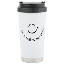 Love Makes Me Smile Travel Coffee Mug