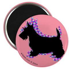 Pink Scottish Terrier Magnet (10 pk)