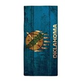 Oklahoma state flag Beach Towels