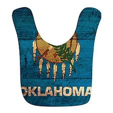 Wooden Oklahoma Flag2 Bib
