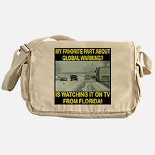 Global Warming On TV Messenger Bag