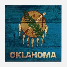 Wooden Oklahoma Flag3 Tile Coaster