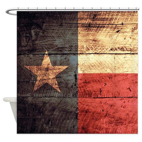 Wooden Texas Flag3 Shower Curtain