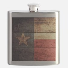 Wooden Texas Flag3 Flask