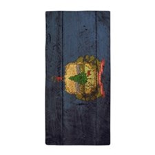 Wooden Vermont Flag1 Beach Towel