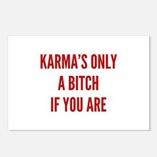 Karma's Only A Bitch If You Are Postcards (Package