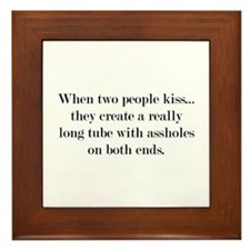 When Two People Kiss... Framed Tile