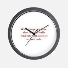 When Two People Kiss... Wall Clock