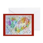 Community Hearts Color Greeting Cards (Pk of 20)