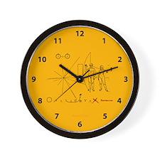 Pioneer 10 Plaque V3 Wall Clock