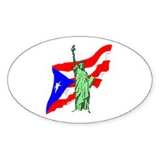 New York Oval Stickers