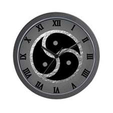 Silver Bdsm Emblem - Symbol Wall Clock