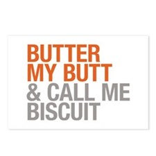 Butter My Butt and Call Me Biscuit Postcards (Pack