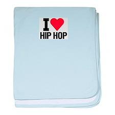 I Love Hip-hop baby blanket