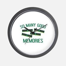 So Many Good Memories Wall Clock