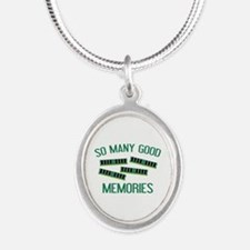 So Many Good Memories Silver Oval Necklace