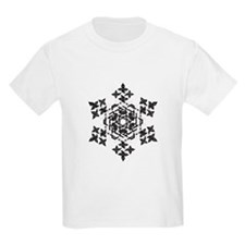 Black and White Snowflake T-Shirt