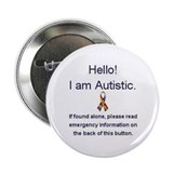 Autism buttons Single