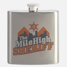 Mile High Sheriff Flask