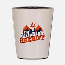 Mile High Sheriff Shot Glass