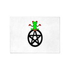 Tree Frog on Pentacle 5'x7'Area Rug