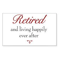 Retirement / Senior Rectangle Decal
