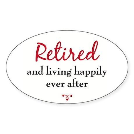Retirement / Senior Oval Sticker