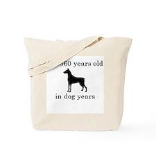 80 birthday dog years doberman Tote Bag