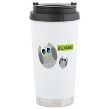 Blessed with cute owls Travel Mug