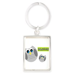 Blessed with cute owls Keychains