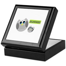 Blessed with cute owls Keepsake Box