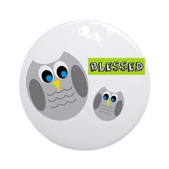 Blessed with cute owls Ornament (Round)